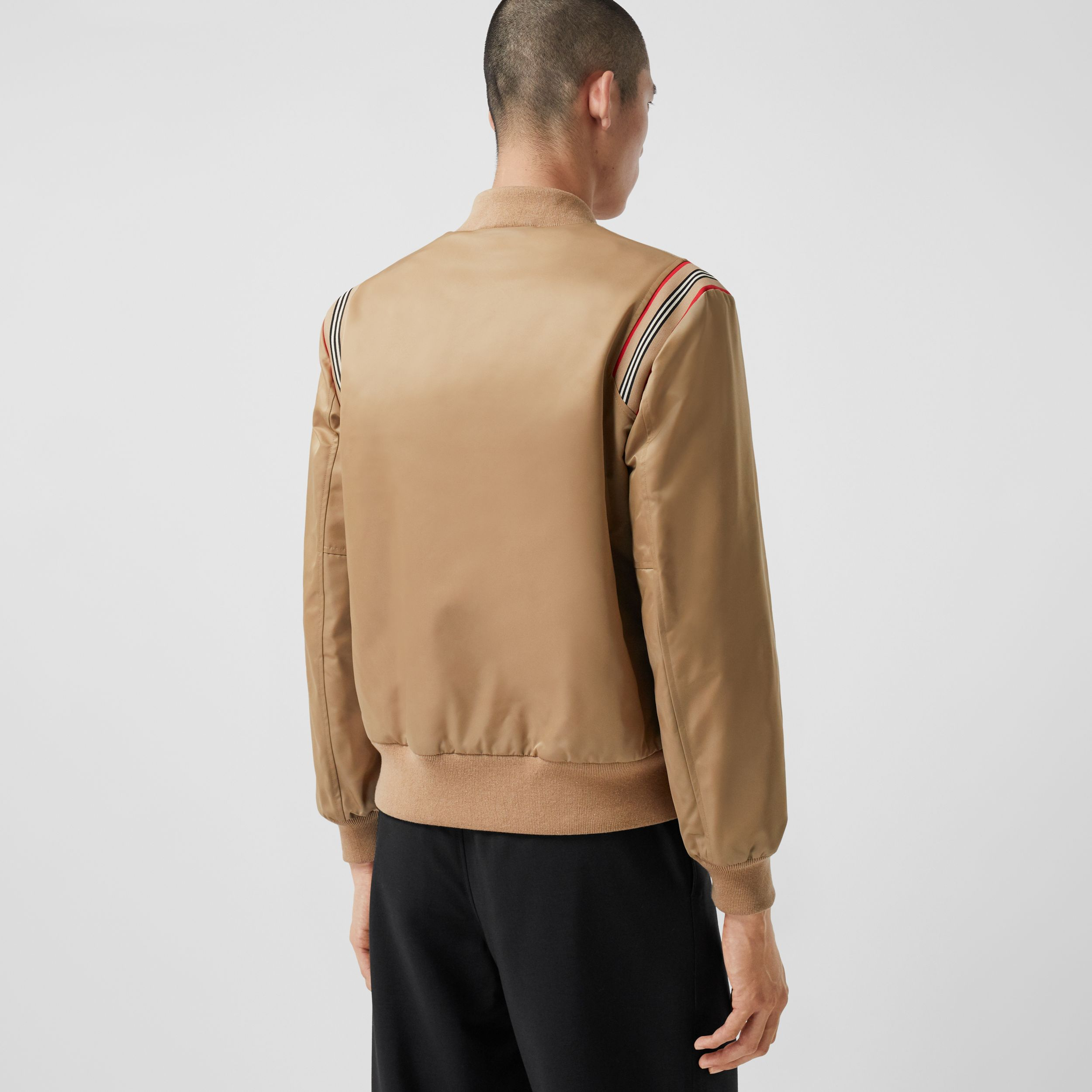 Icon Stripe Trim Twill Bomber Jacket - Men | Burberry - 3