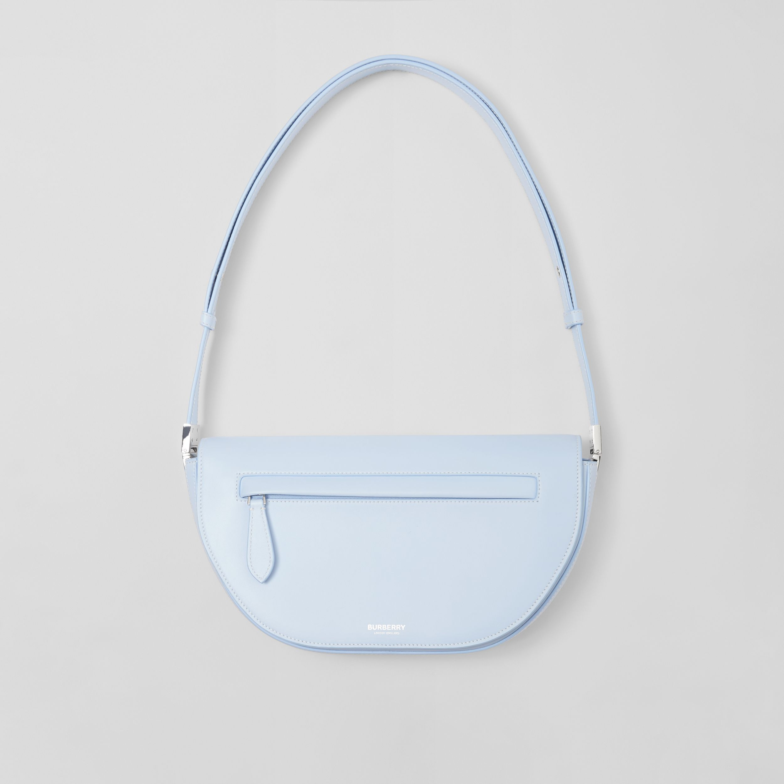 Small Leather Olympia Bag in Pale Blue - Women | Burberry United Kingdom - 1