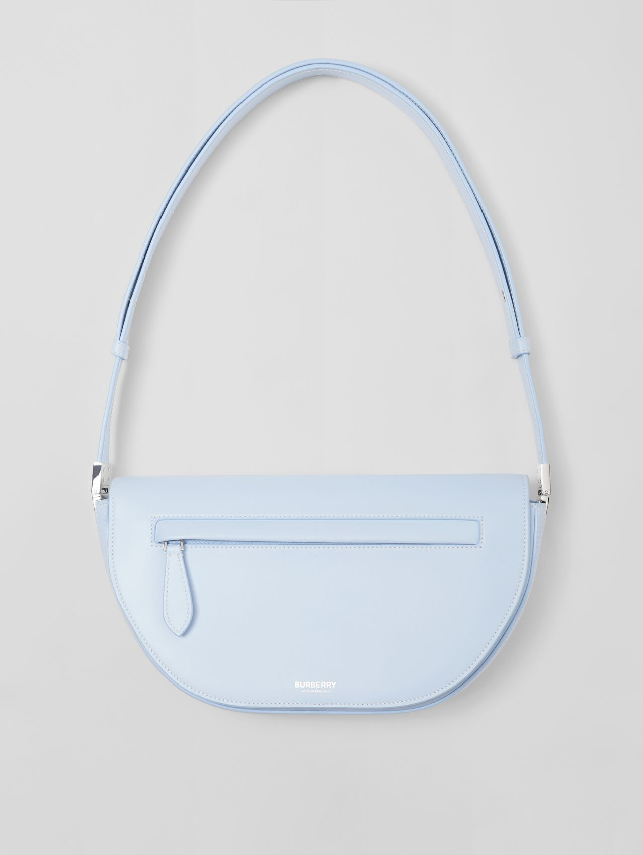 Small Leather Olympia Bag in Pale Blue