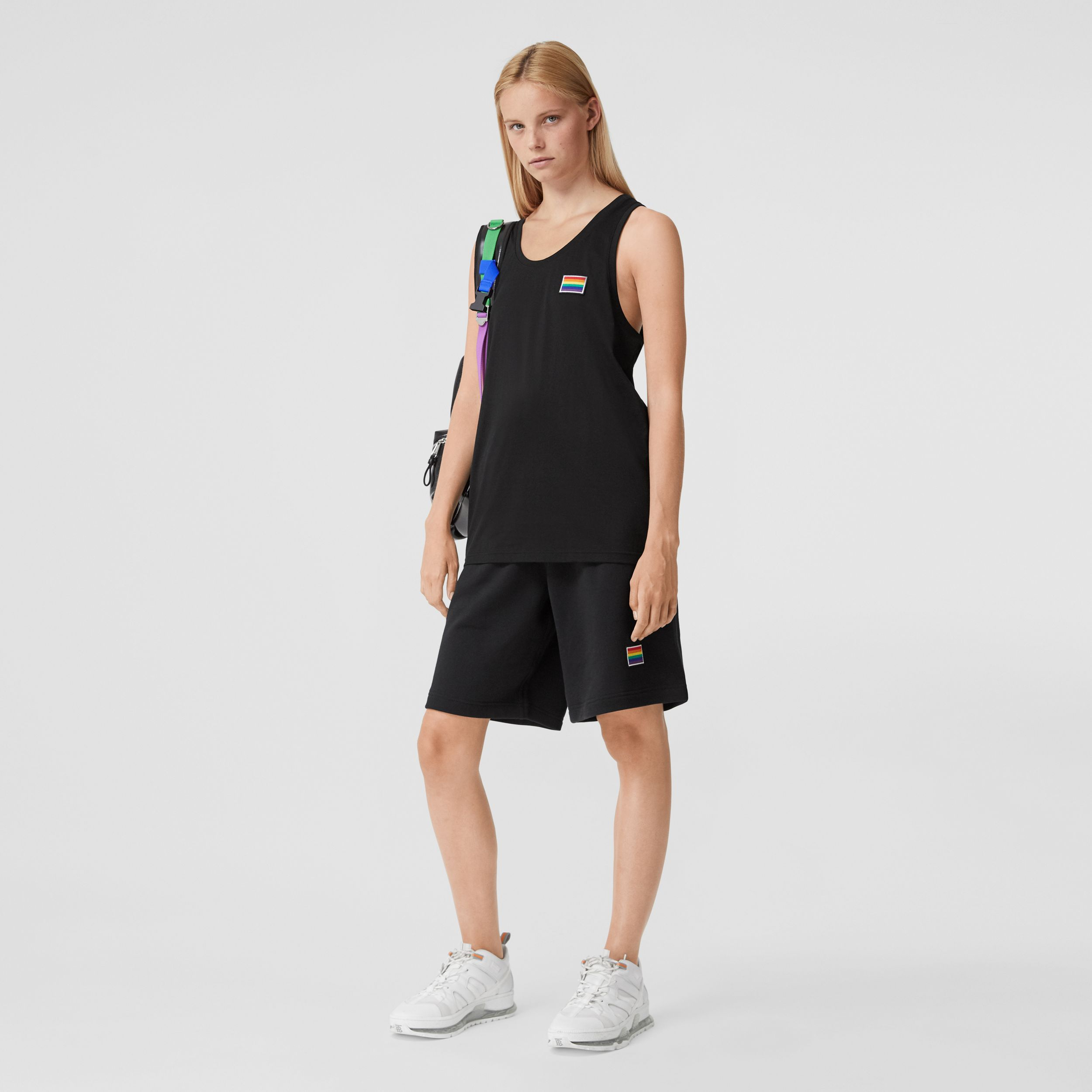 Rainbow Appliqué Cotton Vest – Unisex in Black | Burberry Hong Kong S.A.R. - 4