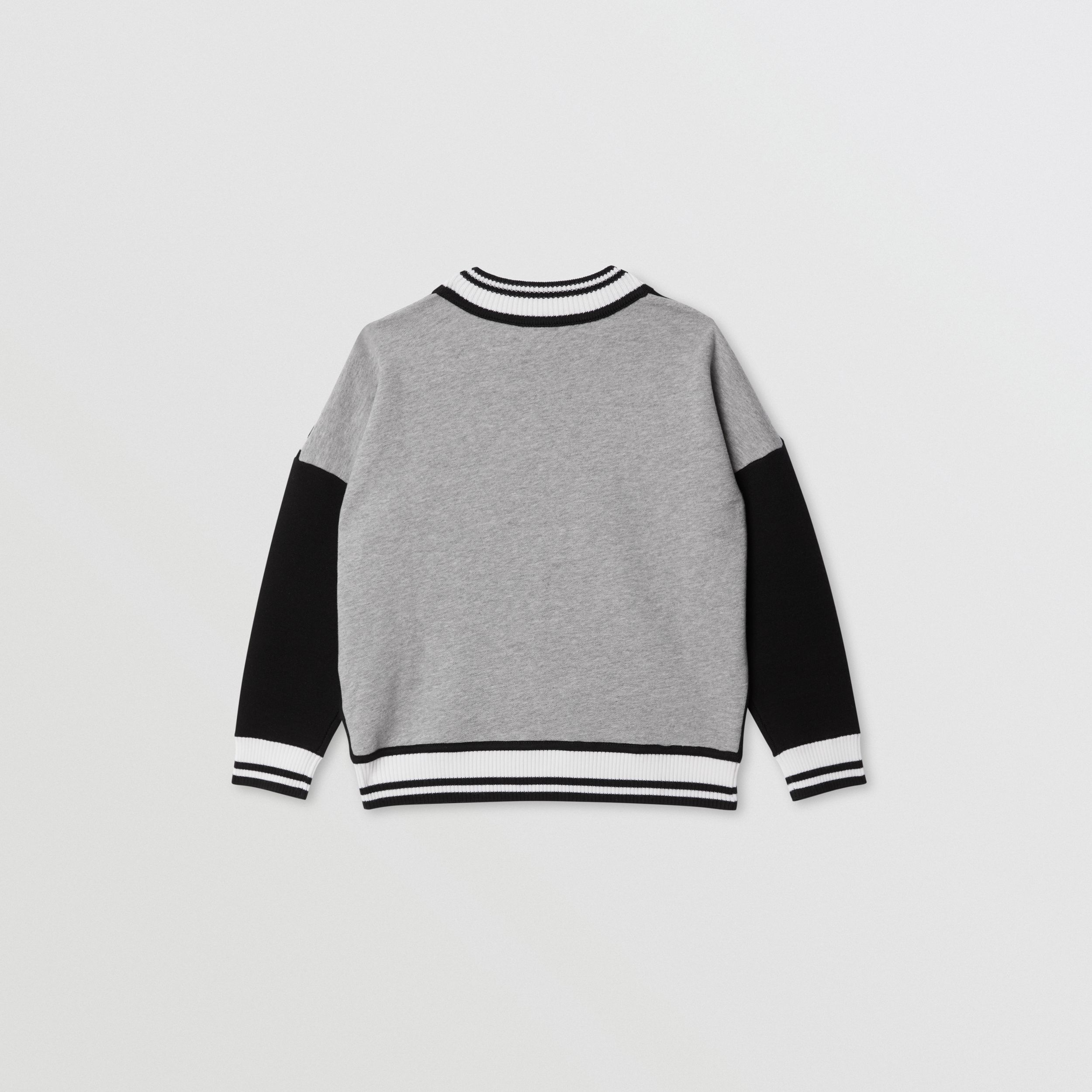 Icon Stripe Panel Wool Blend Sweater in Black | Burberry United Kingdom - 4