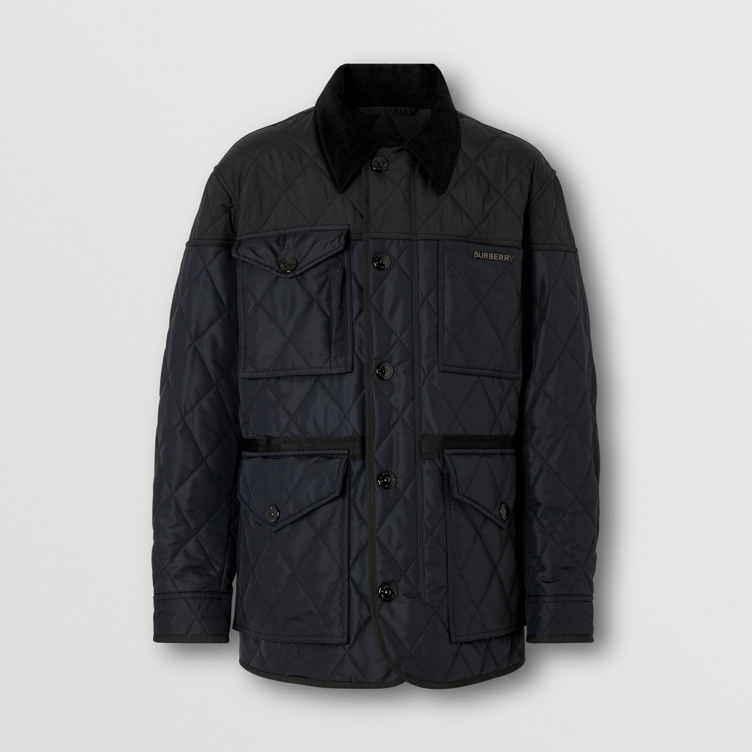Diamond Quilted Thermoregulated Field Jacket in Navy - Men | Burberry - 4