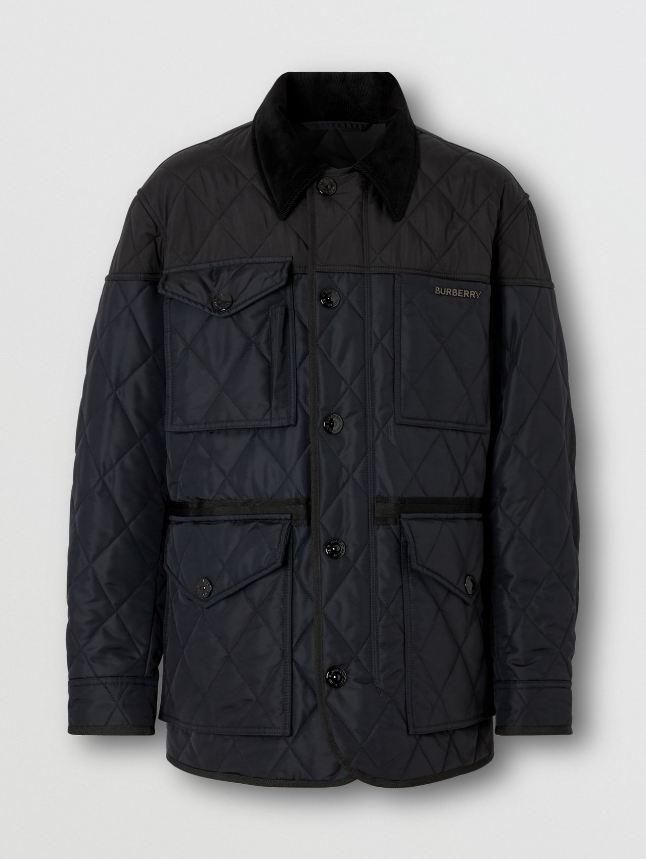 Diamond Quilted Thermoregulated Field Jacket in Navy
