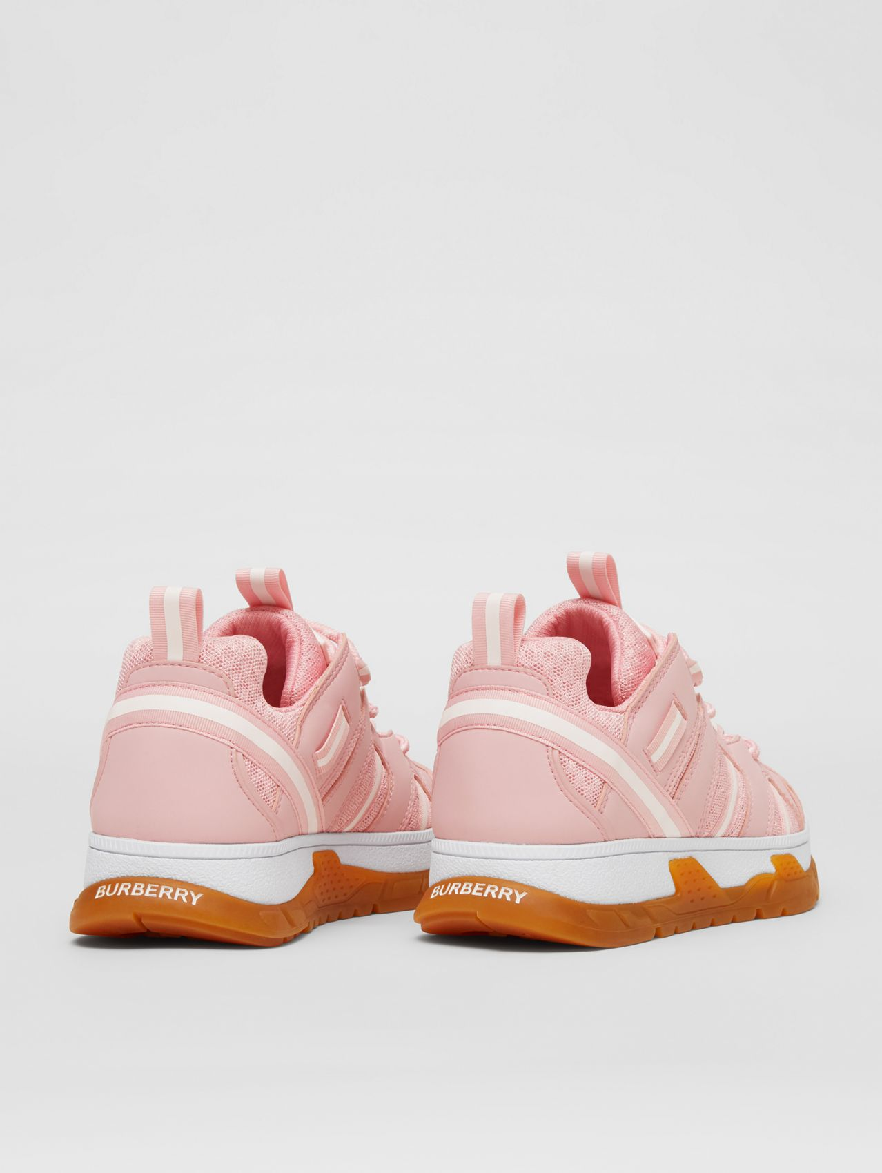 Nylon and Mesh Union Sneakers in Candy Pink
