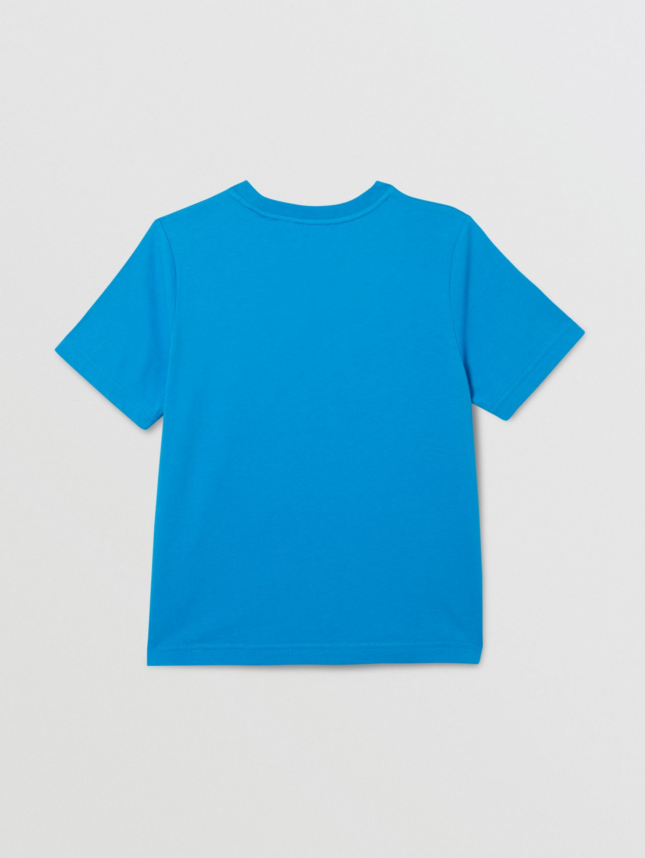 Logo Graphic Print Cotton T-shirt in Cerulean Blue