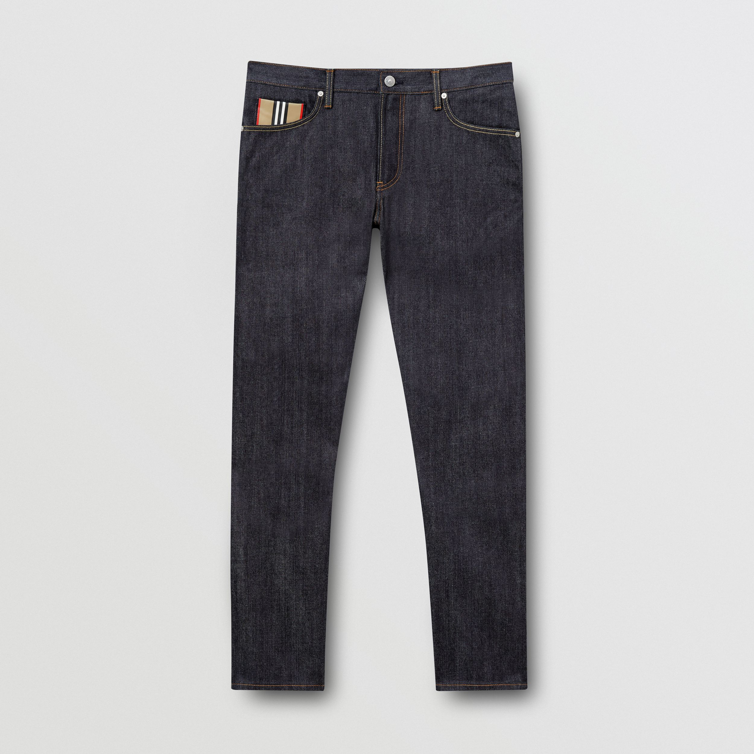 Straight Fit Raw Japanese Selvedge Denim Jeans - Men | Burberry - 4