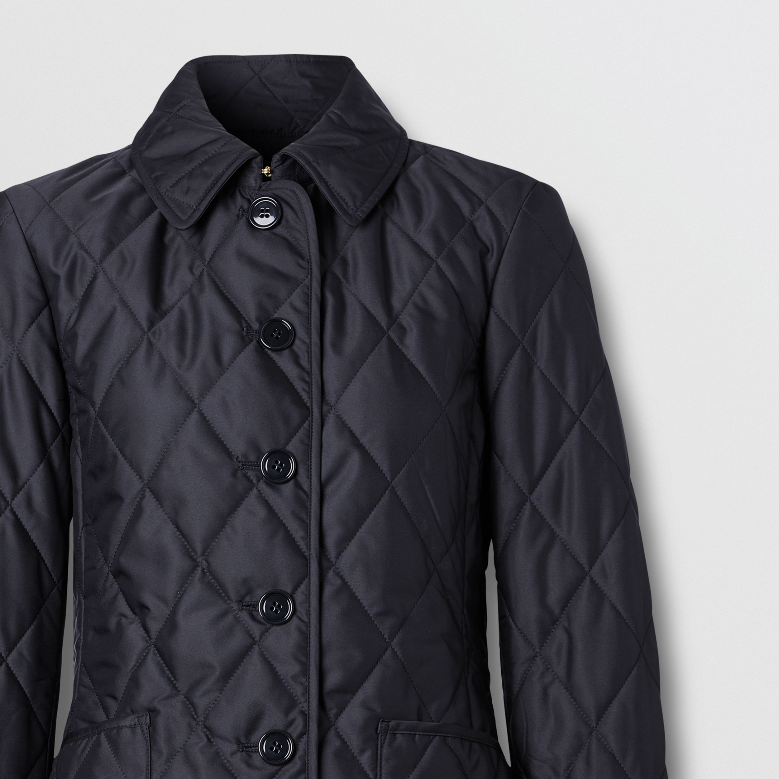 Diamond Quilted Thermoregulated Jacket in Midnight - Women | Burberry - 2