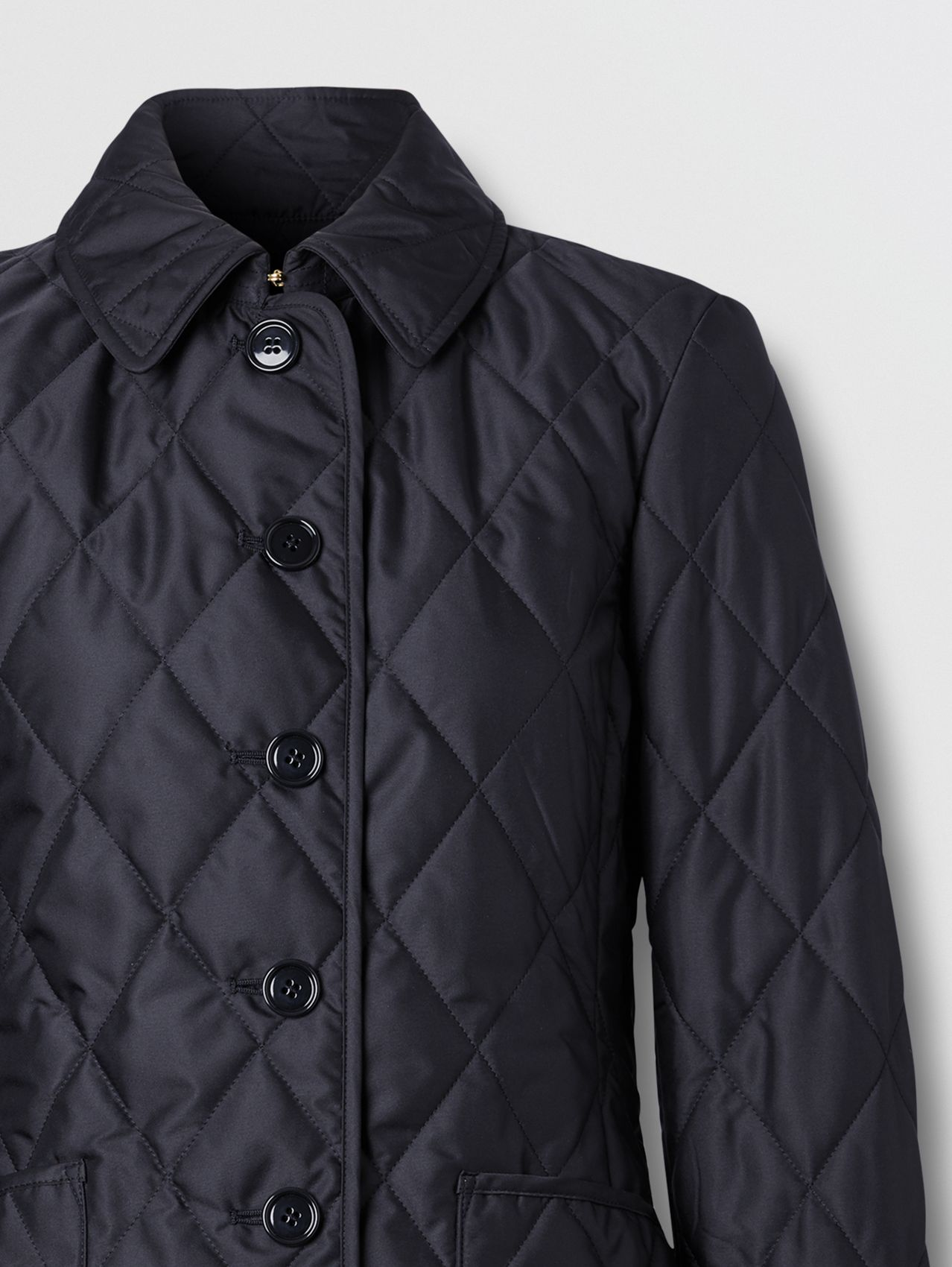Diamond Quilted Thermoregulated Jacket in Midnight