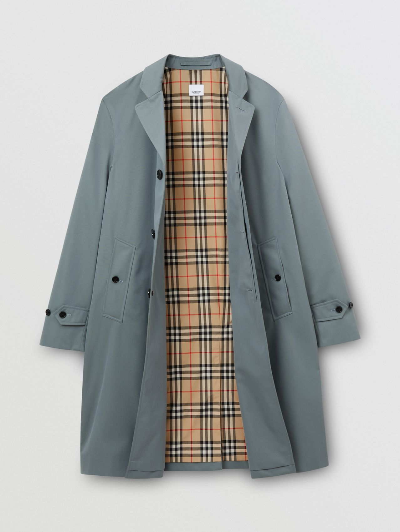 Car coat in gabardine di cotone