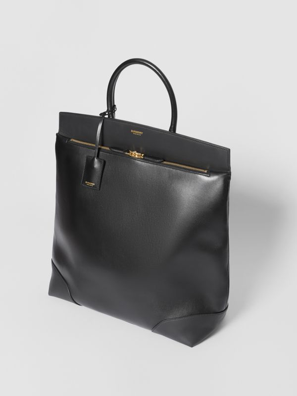 Leather Portrait Society Tote in Black - Men | Burberry - cell image 2