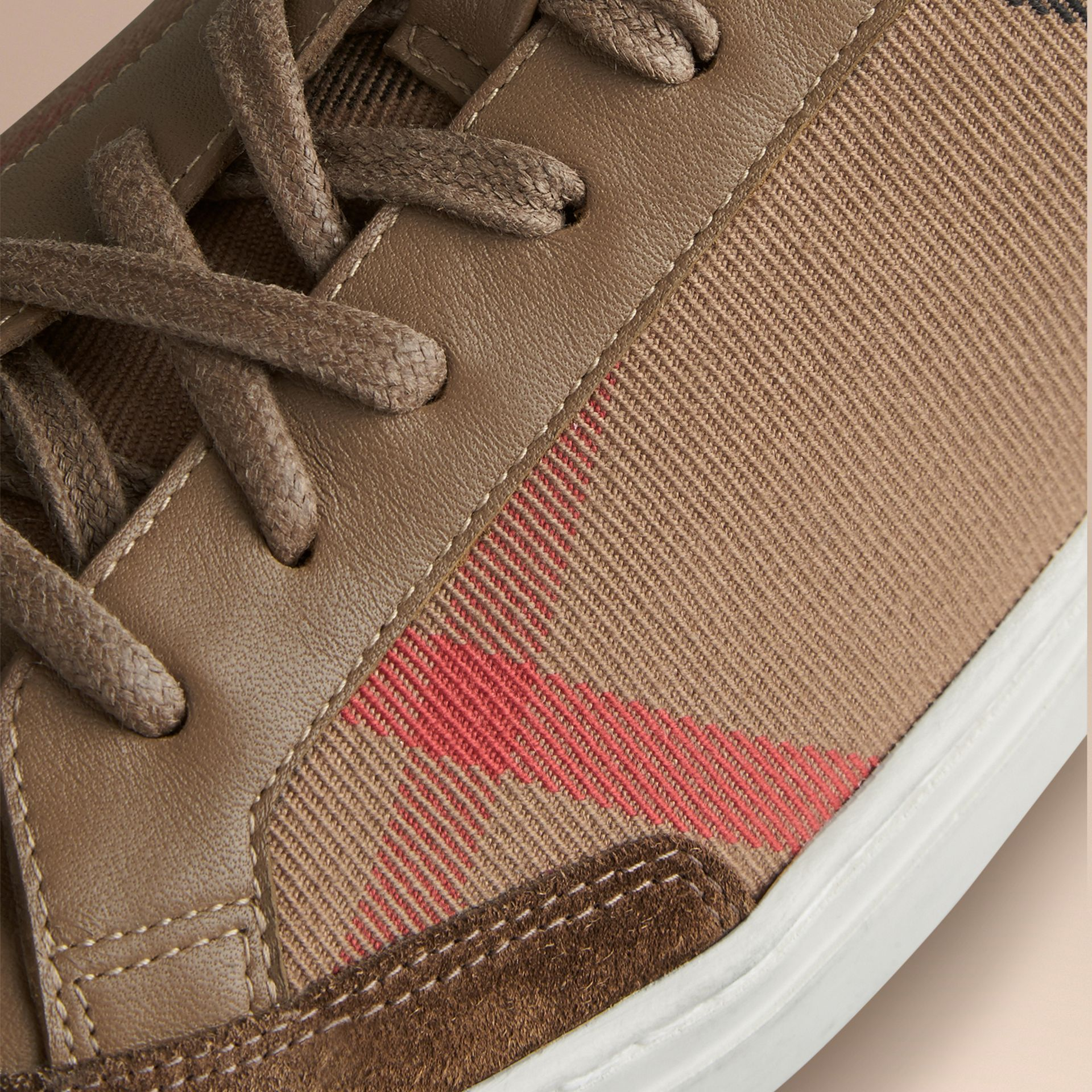 House check/olive House Check Trainers - gallery image 2