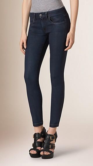 Jean skinny taille basse indigo profond