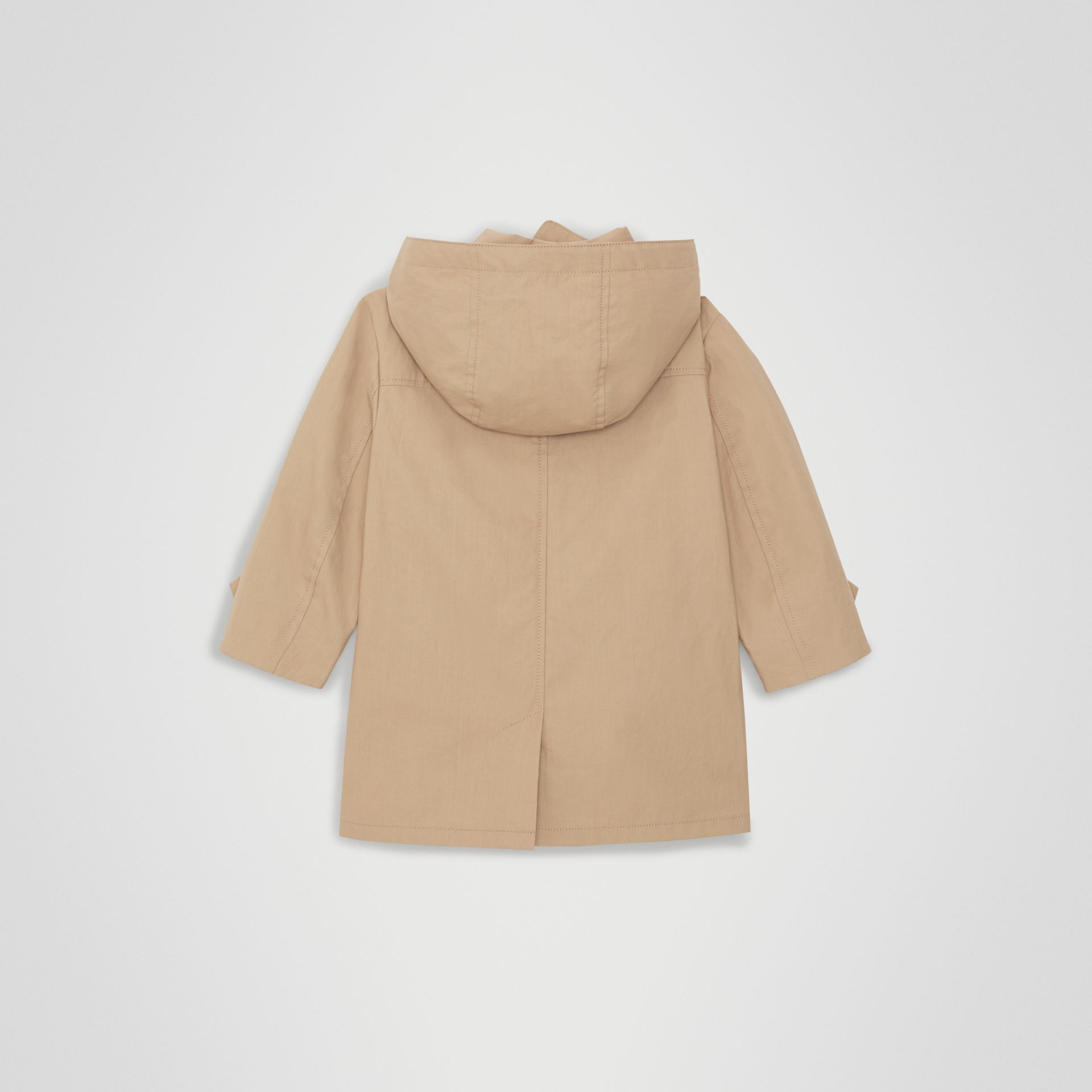 Detachable Hood Cotton Car Coat in Honey - Children | Burberry United Kingdom - gallery image 3