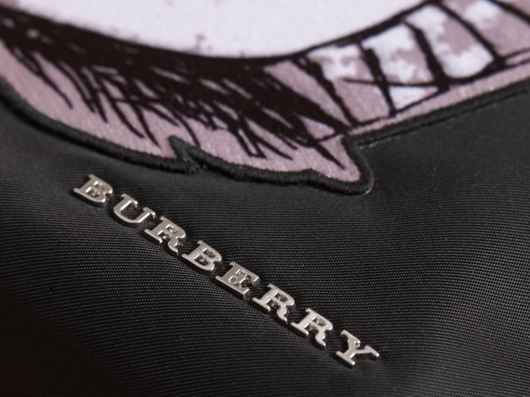 Large Pallas Helmet Motif Pouch in Black - Women | Burberry - cell image 1