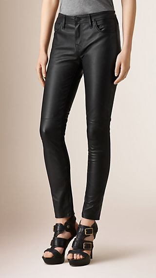 Stretch Nappa Leather Skinny Fit Trousers