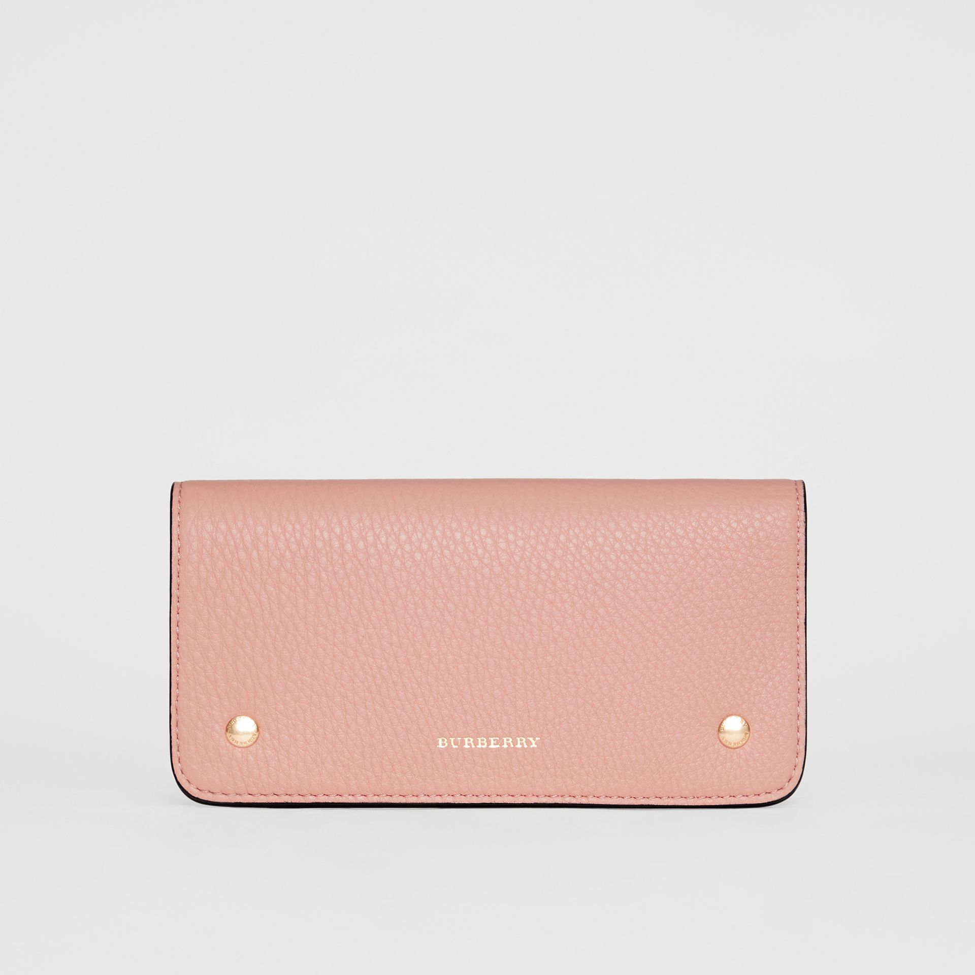Leather Phone Wallet in Ash Rose - Women | Burberry - gallery image 0