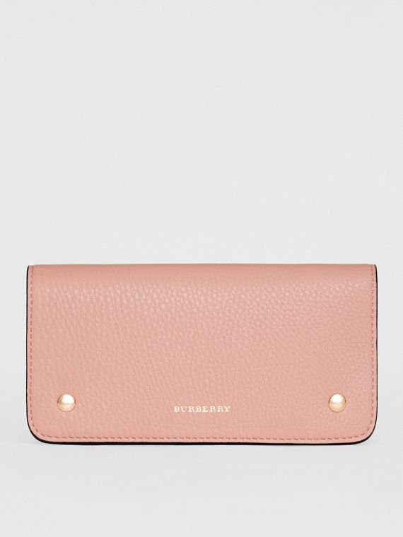 Leather Phone Wallet in Ash Rose
