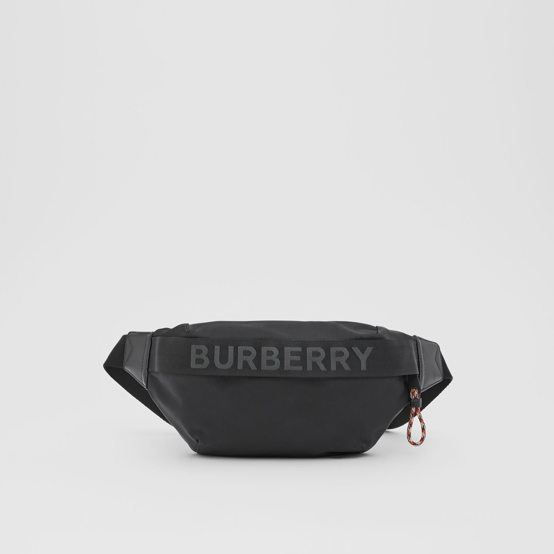 Logo Detail ECONYL® Sonny Bum Bag in Black - Men | Burberry - gallery image 0