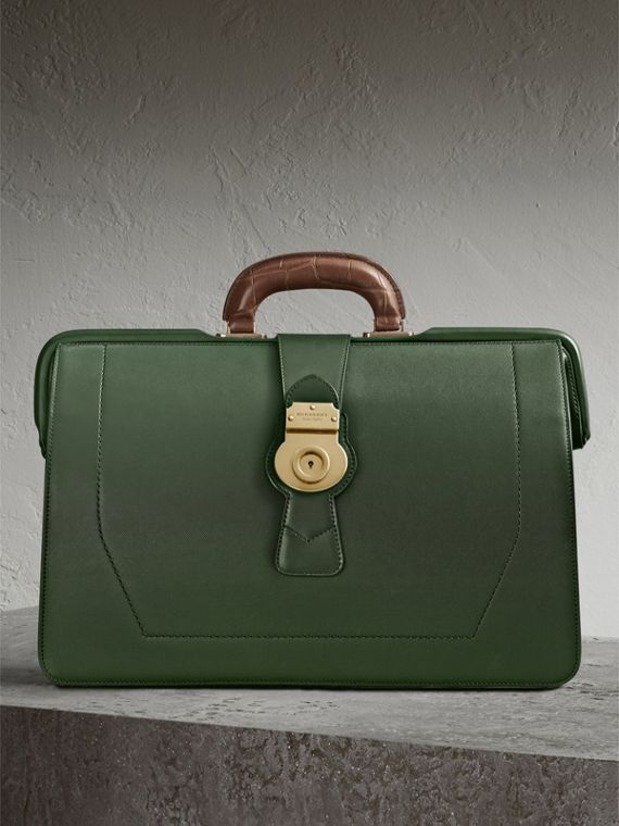 The DK88 Doctor's Bag with Alligator in Dark Forest Green