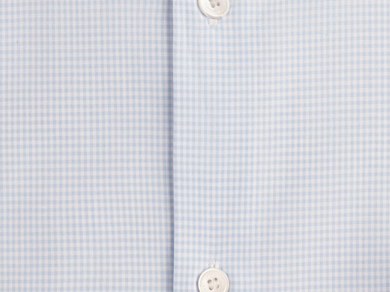 Slim Fit Button-down Collar Gingham Cotton Poplin Shirt in City Blue - cell image 1