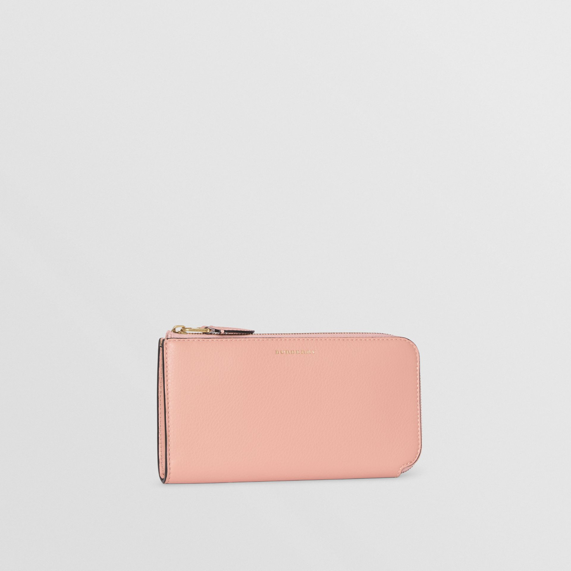 Two-tone Leather Ziparound Wallet and Coin Case in Ash Rose - Women | Burberry - gallery image 5