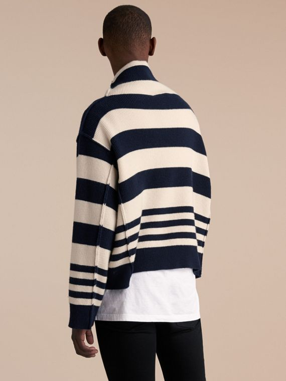 Striped Knitted Cashmere Roll-neck Sweater - Men | Burberry - cell image 2