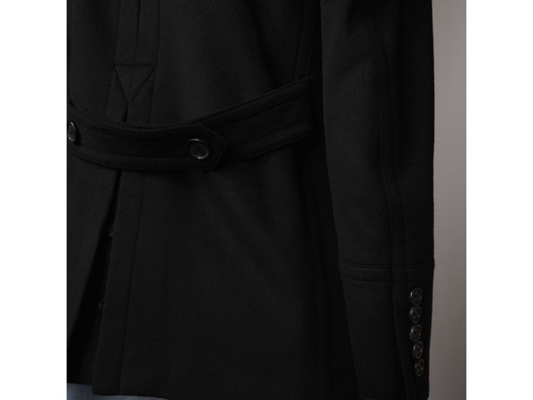 Wool Cashmere Pea Coat in Black - cell image 4
