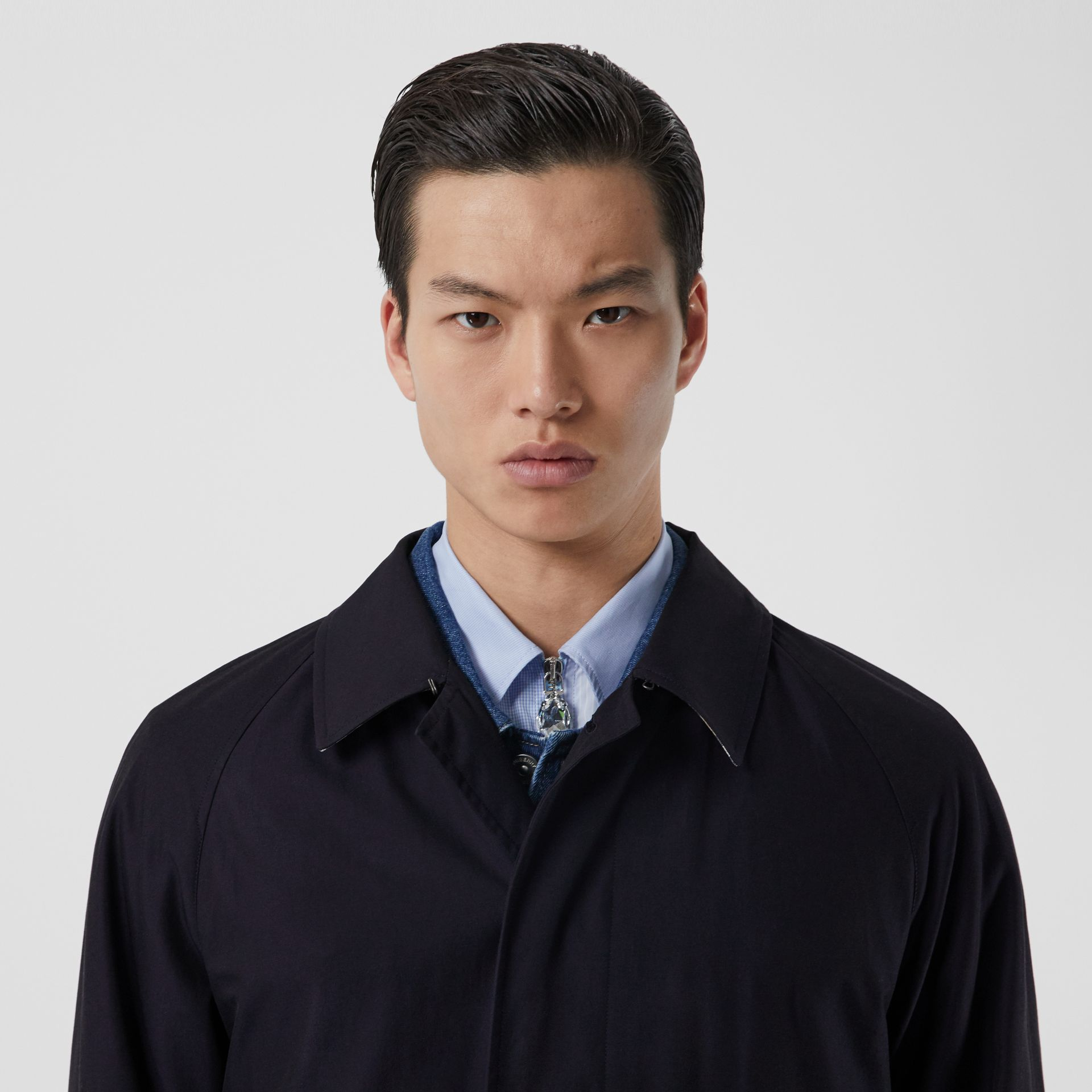 The Camden Car Coat in Blue Carbon - Men | Burberry Hong Kong S.A.R - gallery image 8