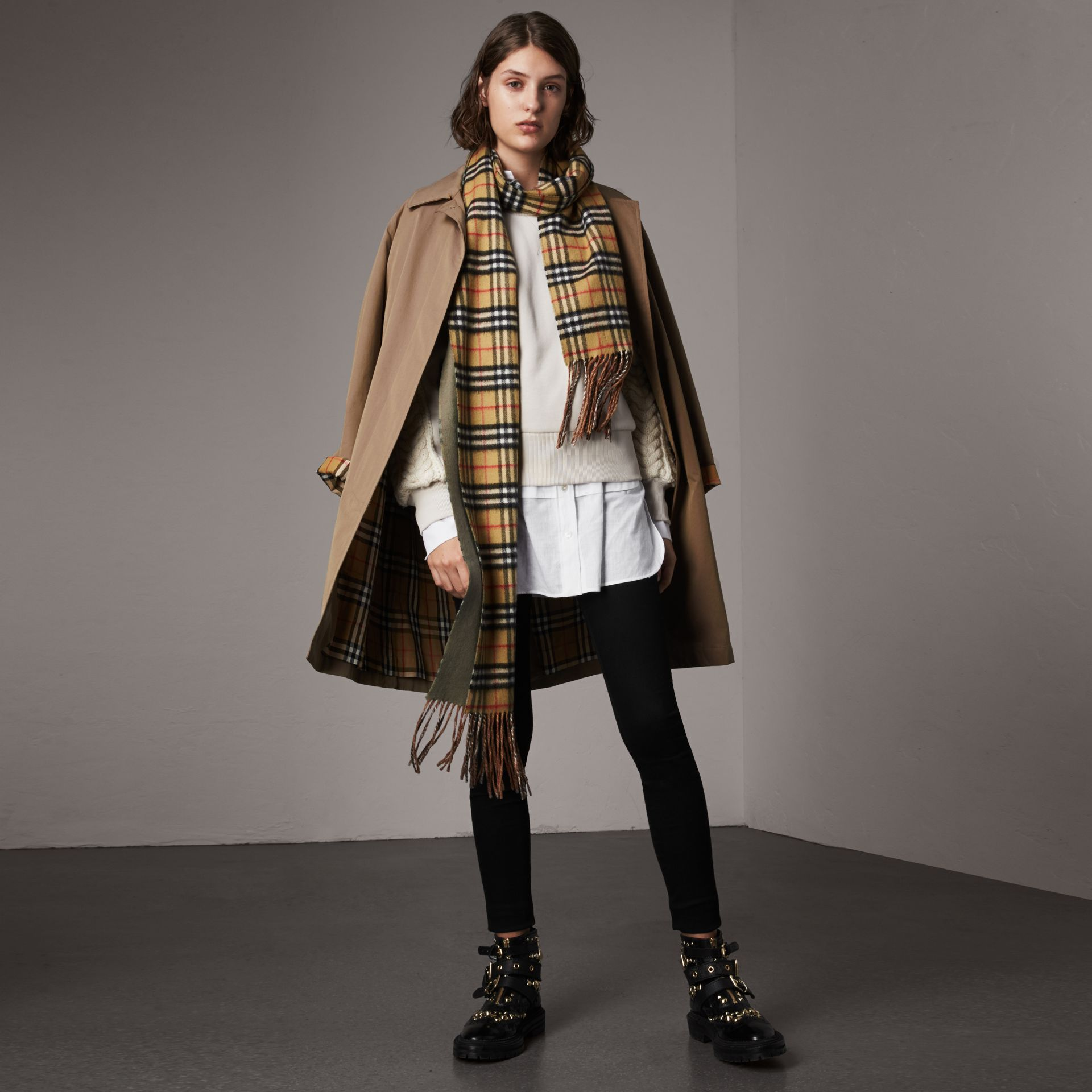 The Camden Car Coat in Taupe Brown - Women | Burberry - gallery image 0