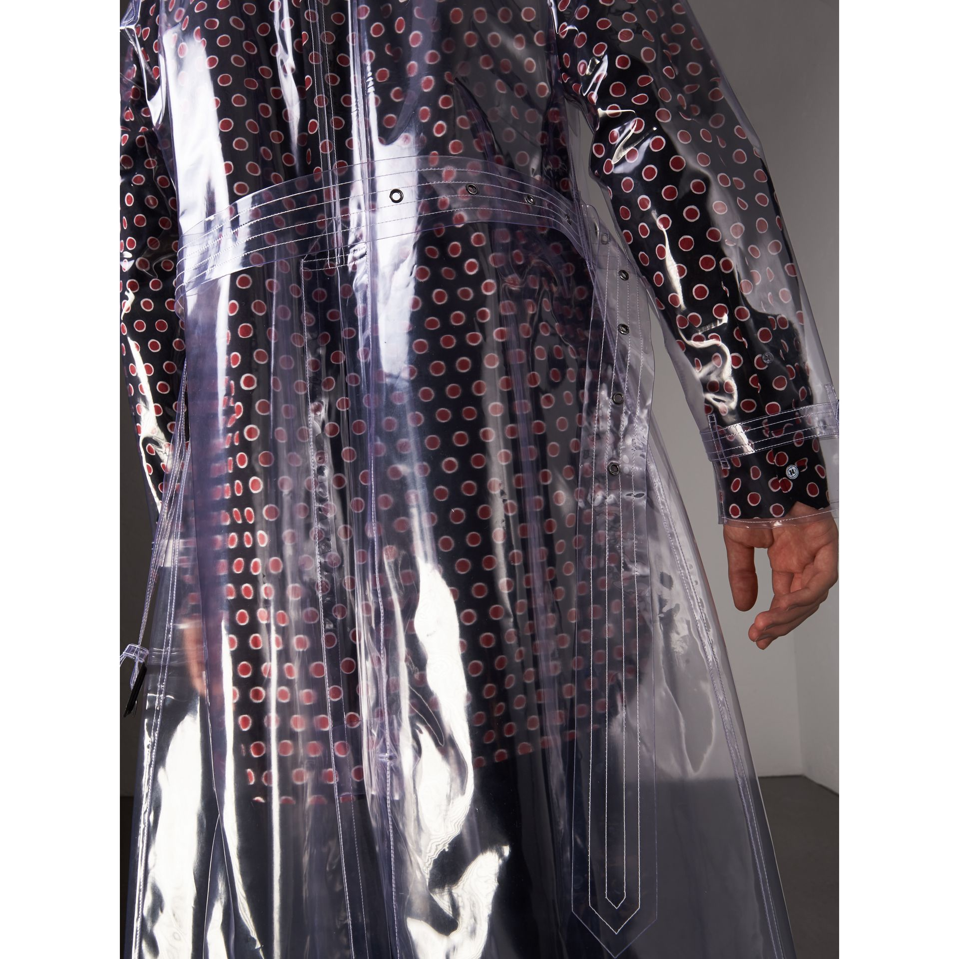 Plastic Trench Coat in Crystal - Men | Burberry Canada - gallery image 5