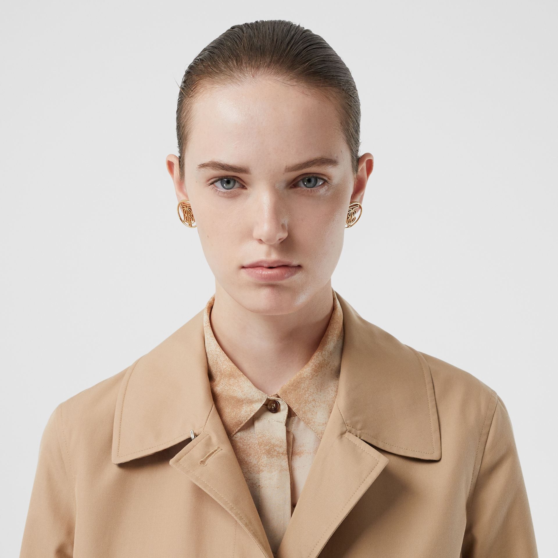 The Pimlico Car Coat in Biscuit - Women | Burberry - gallery image 8