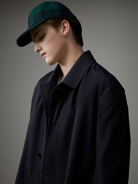 Tropical Gabardine Car Coat in Blue Carbon - Men | Burberry - cell image 1
