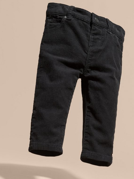 Black Stretch Corduroy Trousers - cell image 2