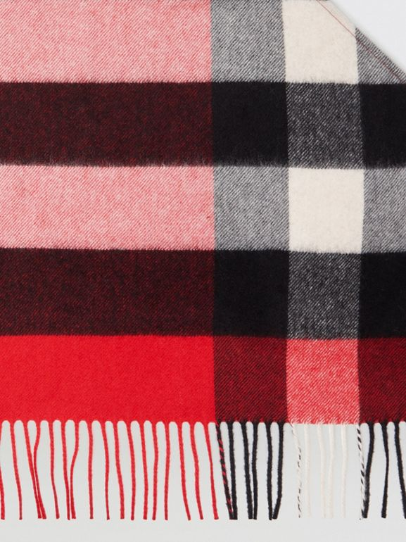 The Burberry Bandana in Check Cashmere in Bright Military Red | Burberry - cell image 1