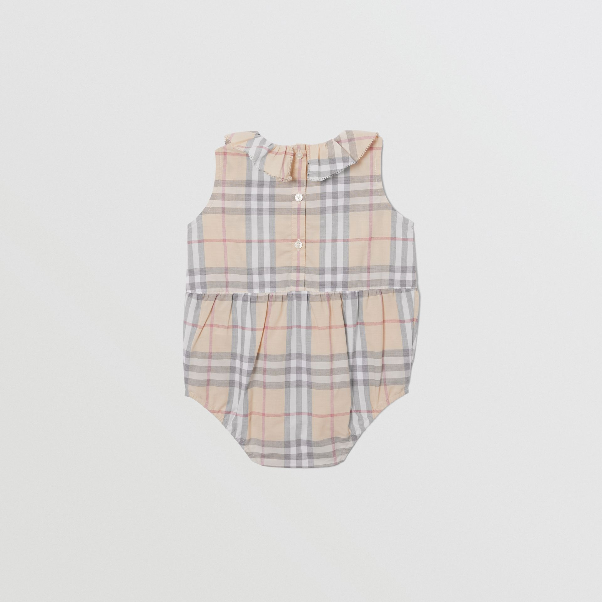 Vintage Check Cotton Three-piece Baby Gift Set in Pale Stone - Children | Burberry United States - gallery image 5
