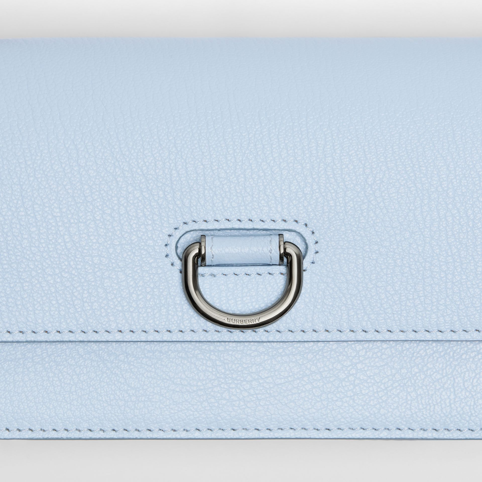 The Mini Leather D-ring Bag in Pale Blue - Women | Burberry - gallery image 1