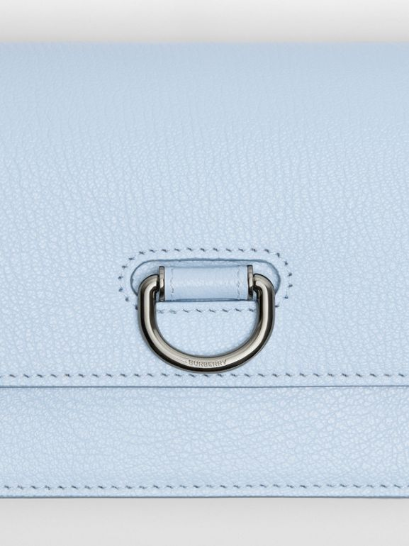 The Mini Leather D-ring Bag in Pale Blue - Women | Burberry - cell image 1