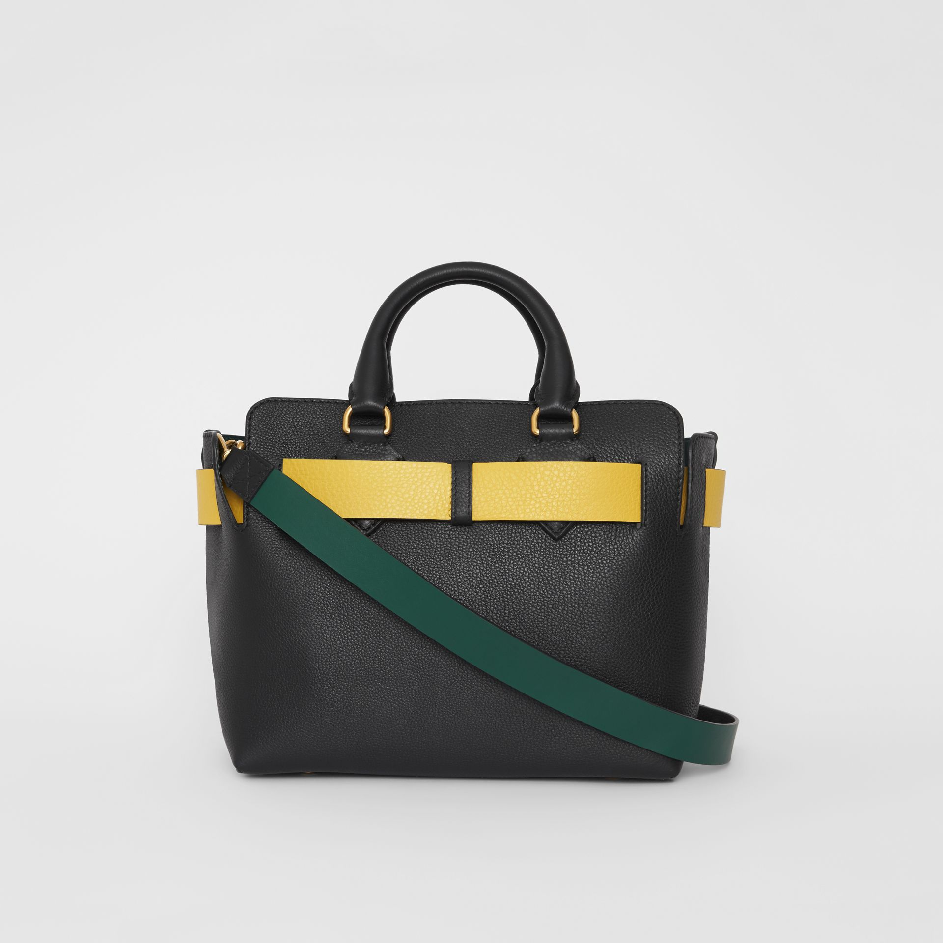 The Small Leather Belt Bag in Black/yellow - Women | Burberry United Kingdom - gallery image 7