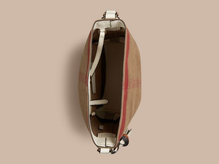 The Small Ashby in Canvas Check and Leather - cell image 4