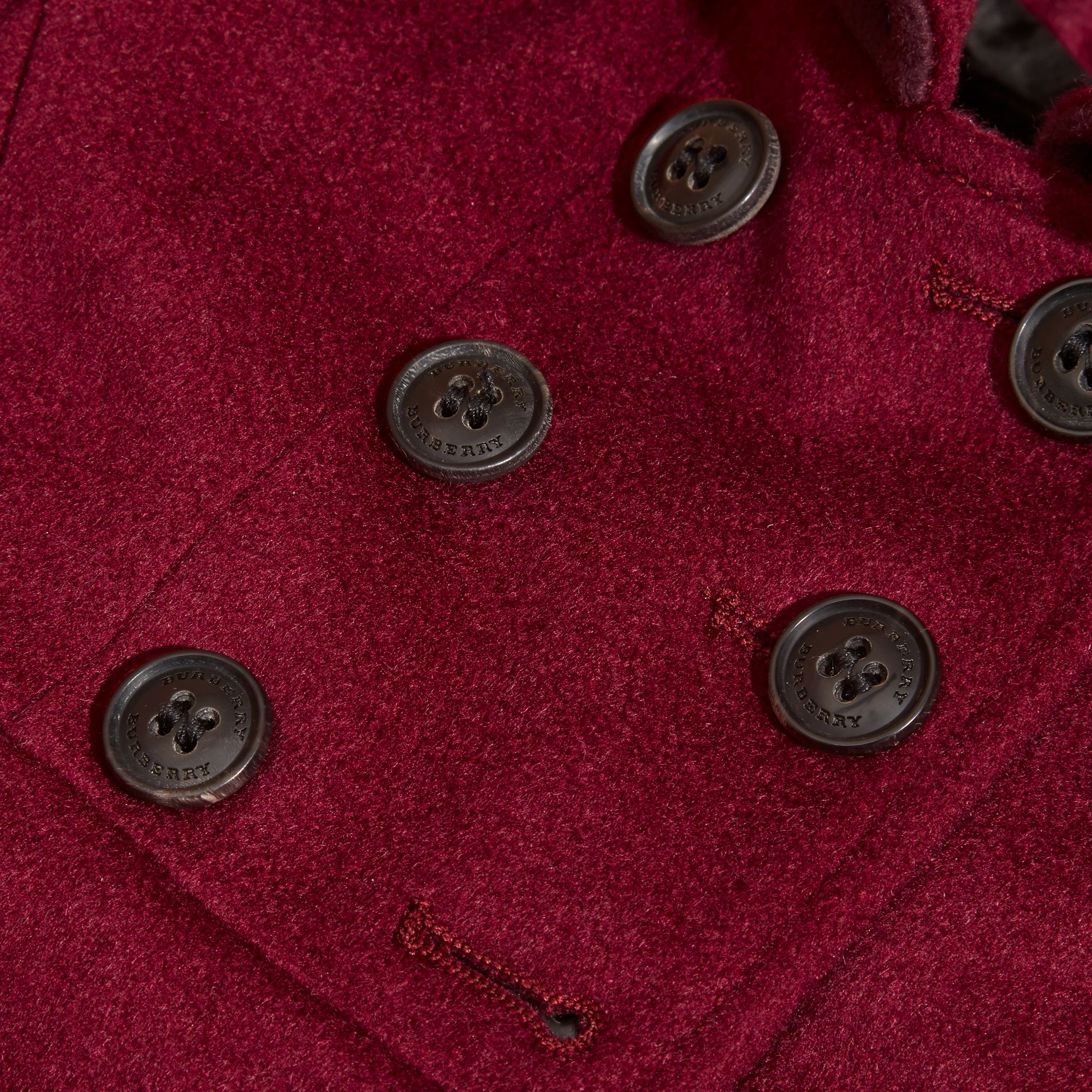 Cherry pink Tailored Cashmere Coat Cherry Pink - gallery image 2
