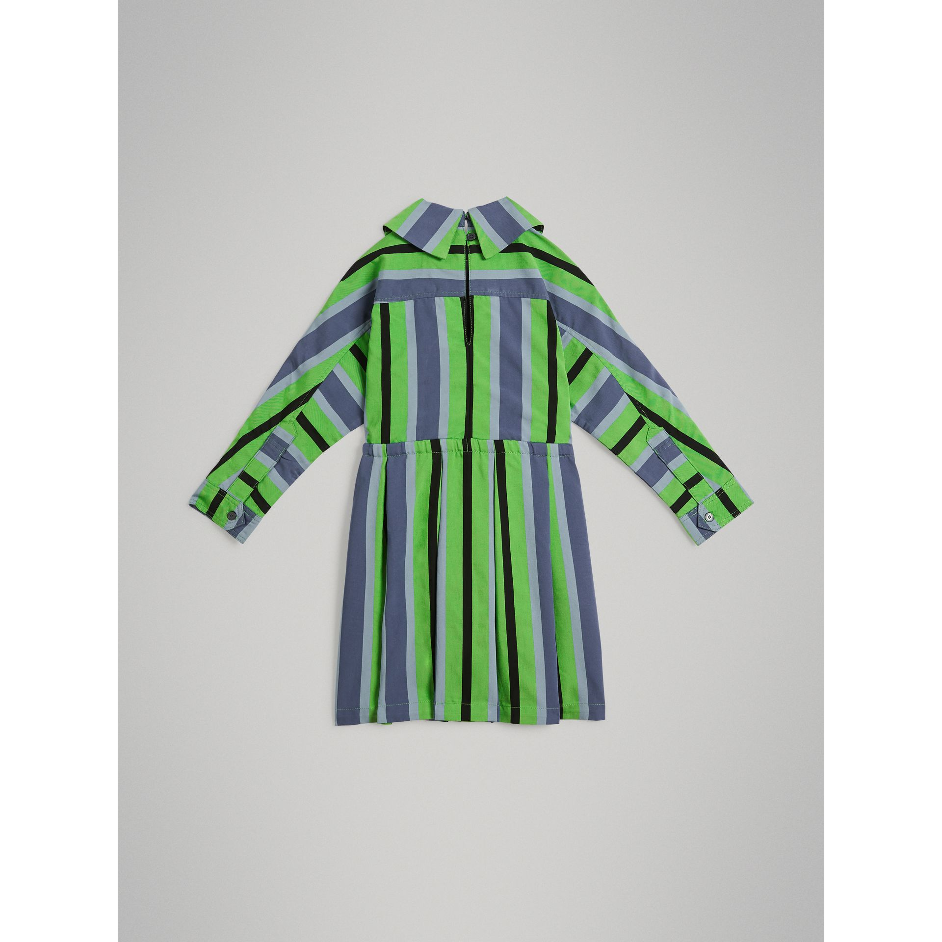 Striped Drawcord Dress in Teal - Girl | Burberry United Kingdom - gallery image 3