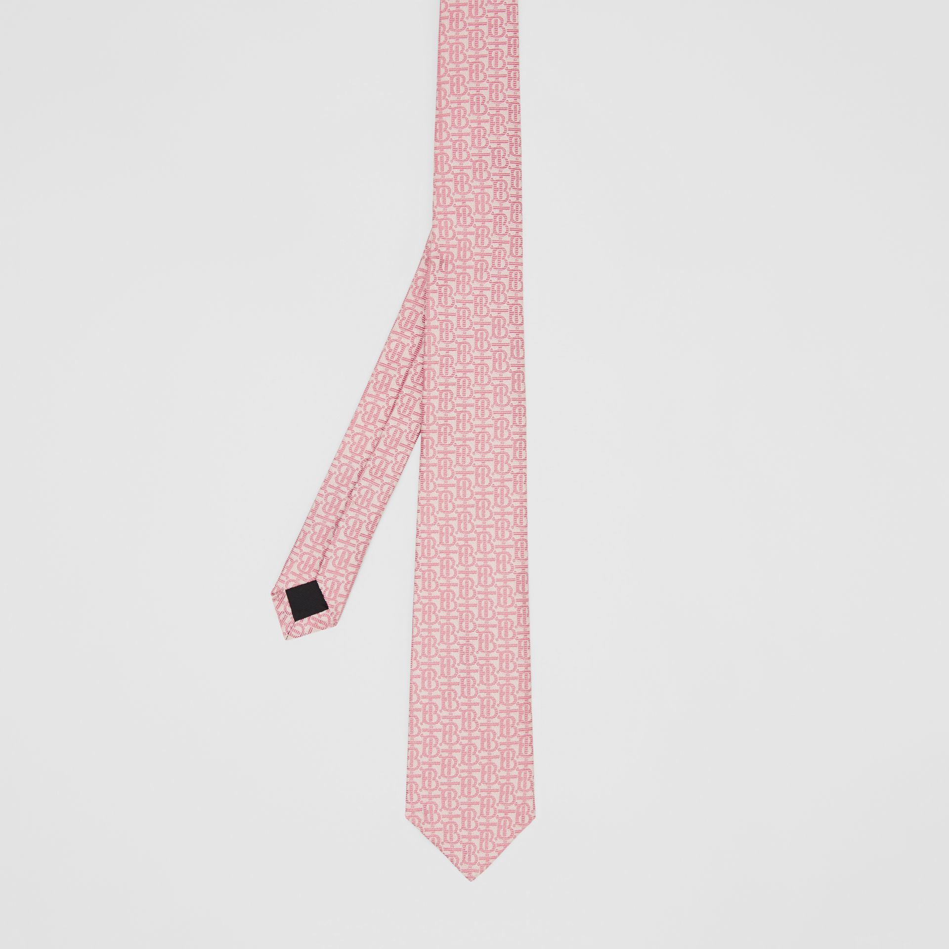 Classic Cut Monogram Silk Jacquard Tie in Alabaster Pink - Men | Burberry - gallery image 4