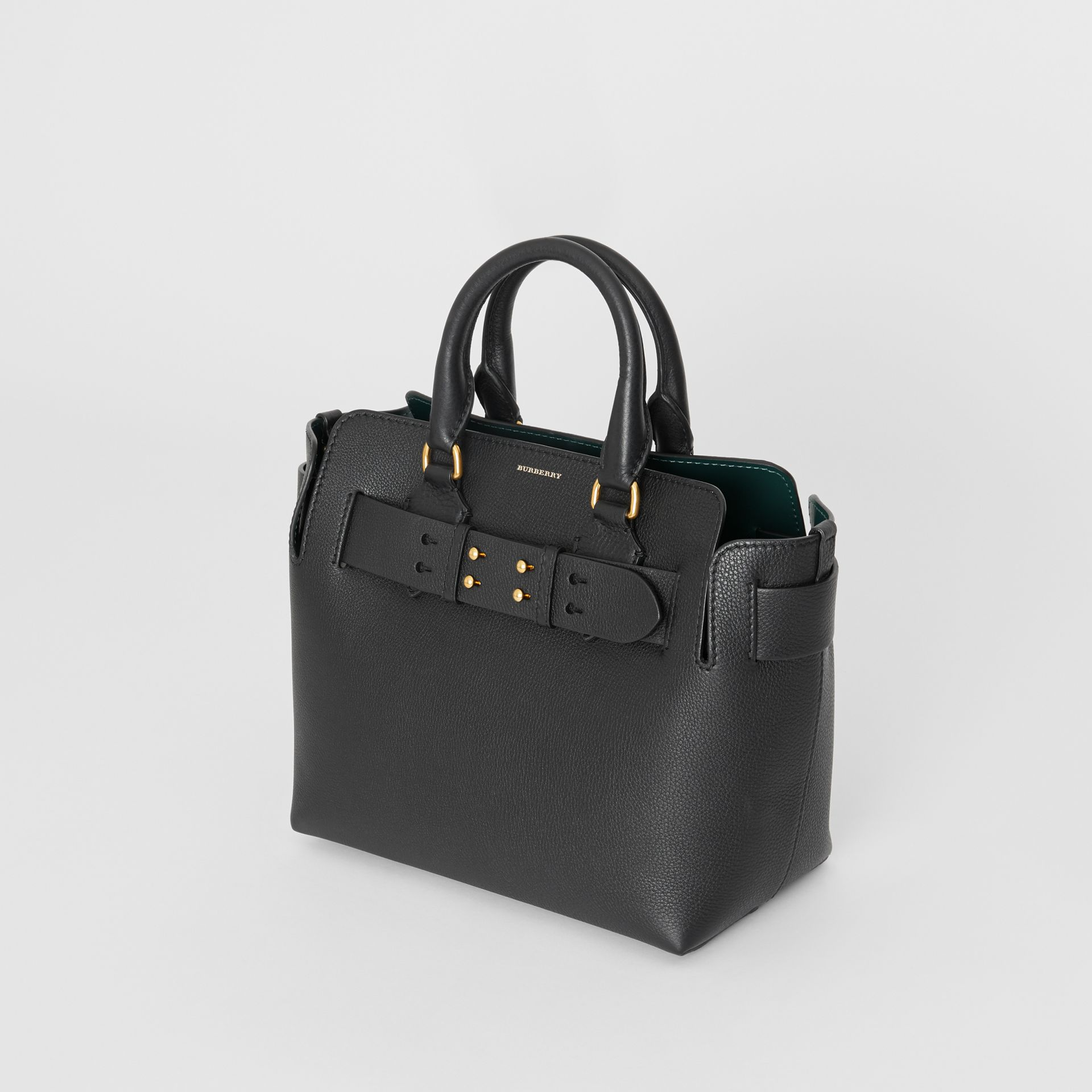 The Small Leather Belt Bag in Black - Women | Burberry - gallery image 4