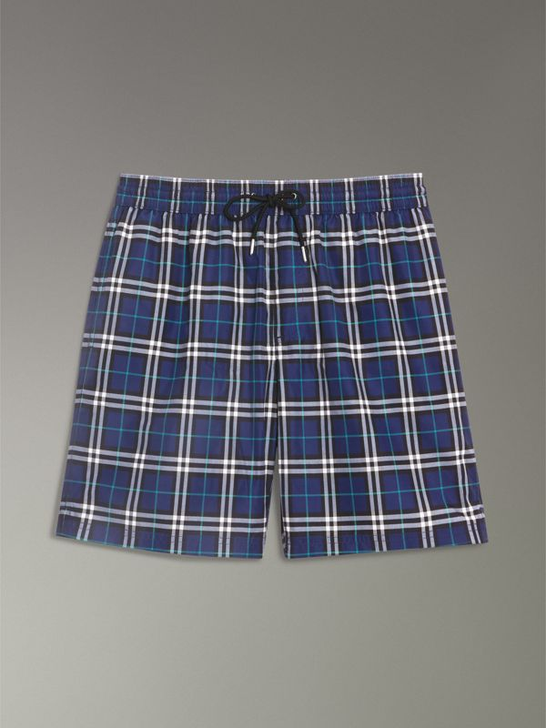 Drawcord Swim Shorts in Canvas Blue - Men | Burberry - cell image 3