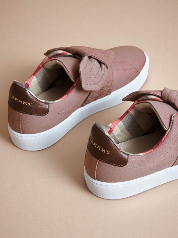 Trench Knot Trainers in Antique Rose - Women | Burberry - cell image 3