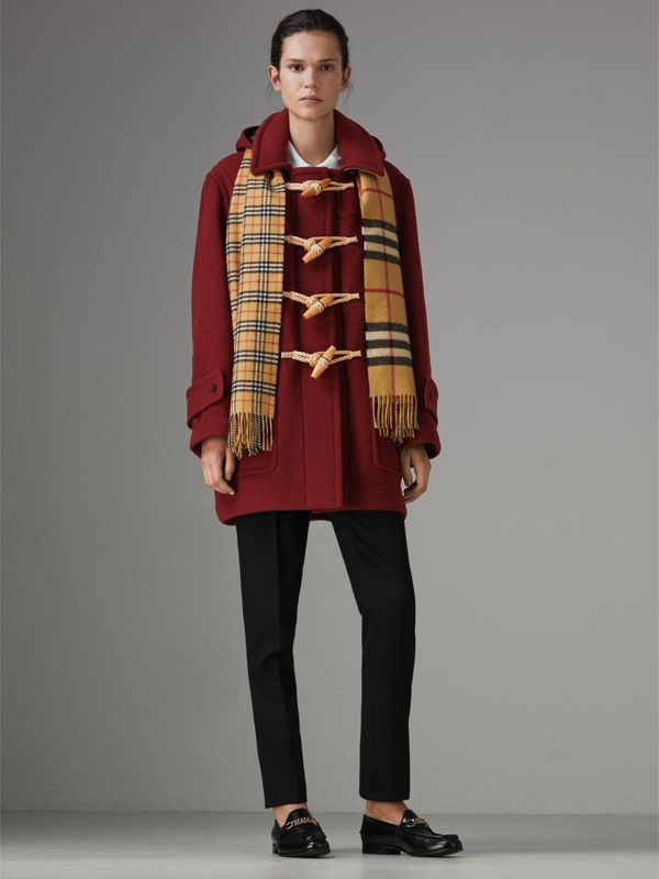 Gosha x Burberry Oversized Duffle Coat in Claret | Burberry United Kingdom - cell image 2