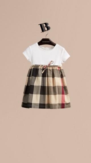Check Cotton T-Shirt Dress