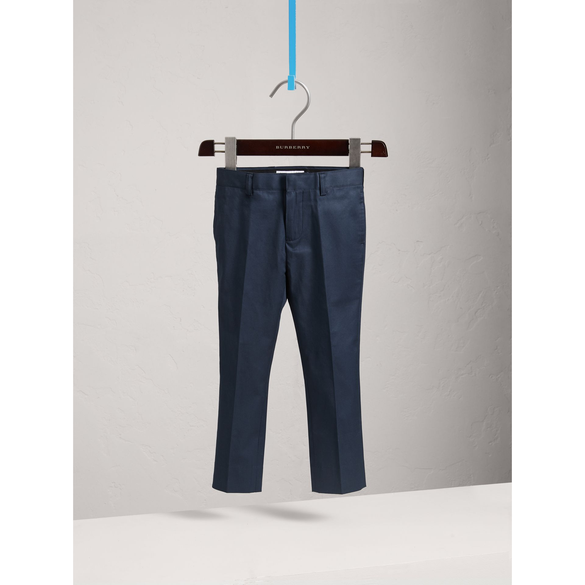 Stretch Cotton Tailored Trousers | Burberry - gallery image 0
