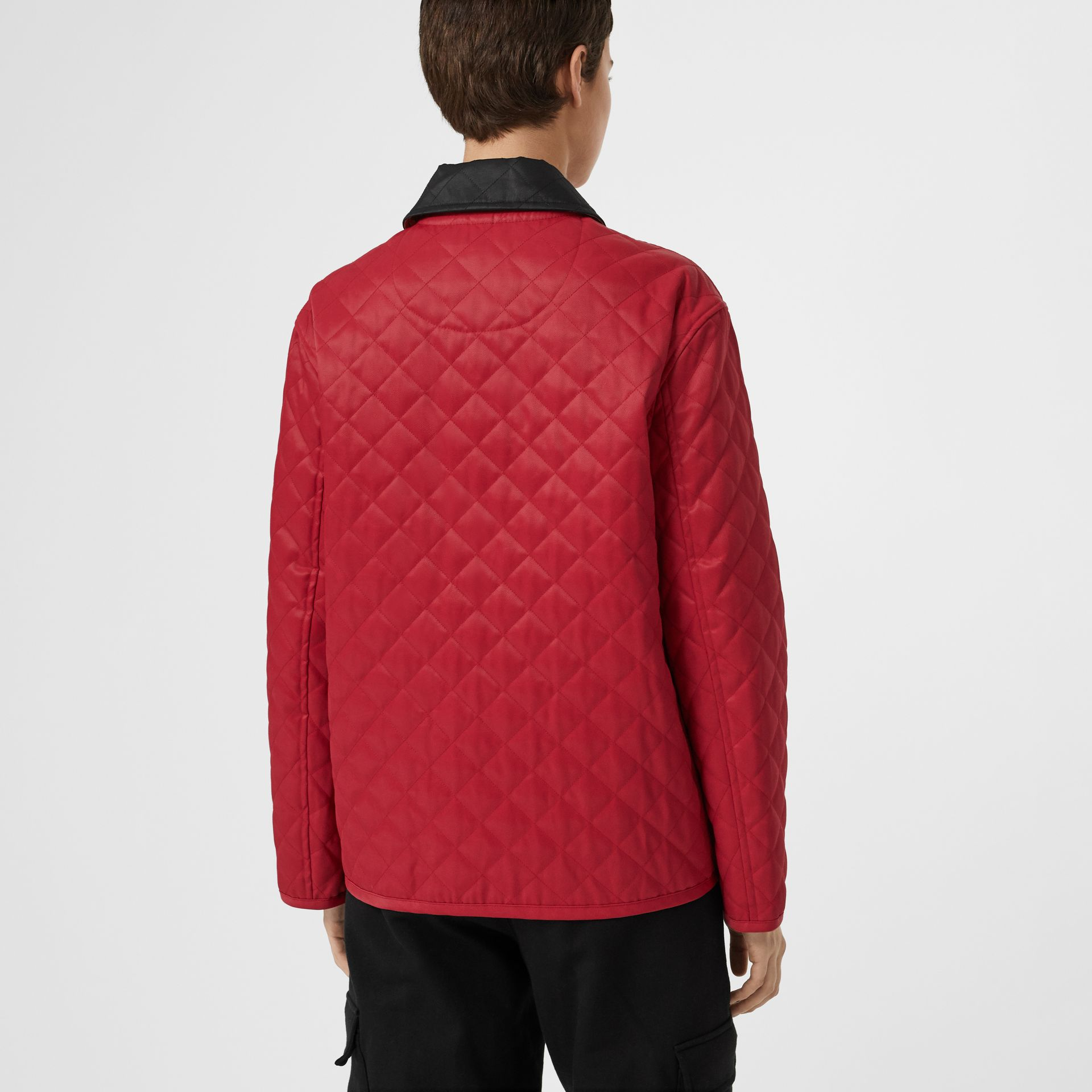 Diamond Quilted Barn Jacket in Red - Women | Burberry - gallery image 2