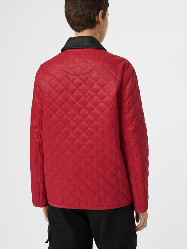 Diamond Quilted Barn Jacket in Red - Women | Burberry - cell image 2